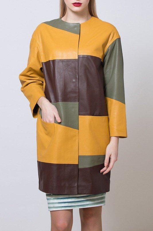 модный кожаный цветной