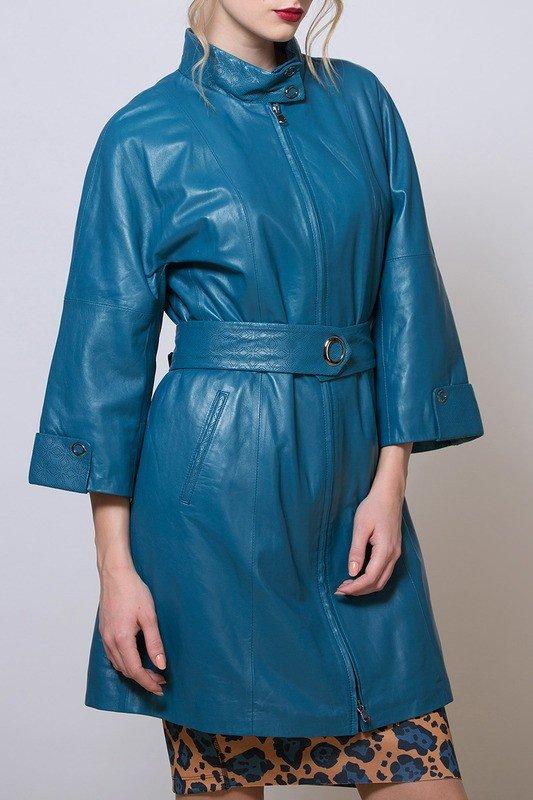 модный кожаный синий