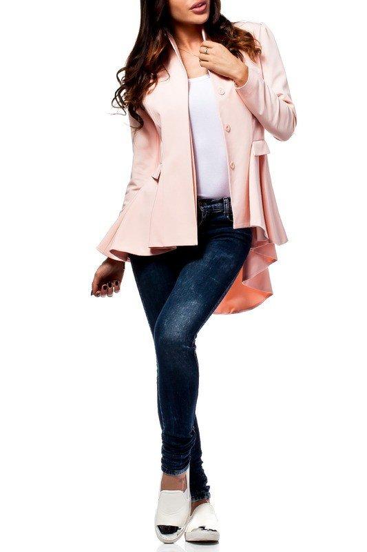 каждодневный образ с розовым пиджаком