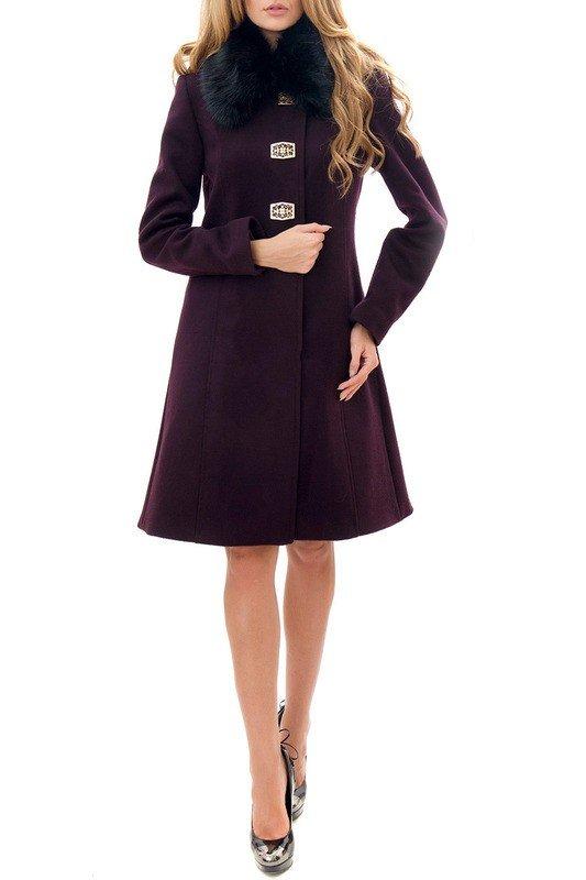 каждодневный образ с фиолетовым пальто