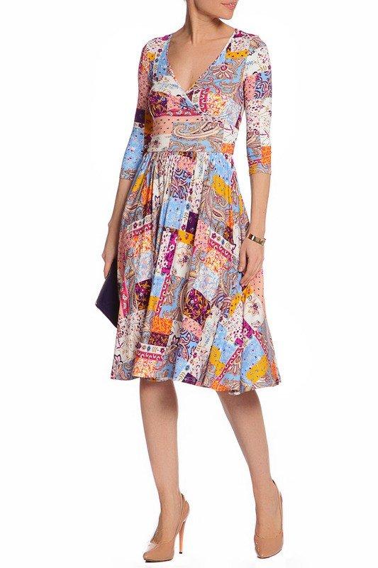 образ на каждый день платье с принтом
