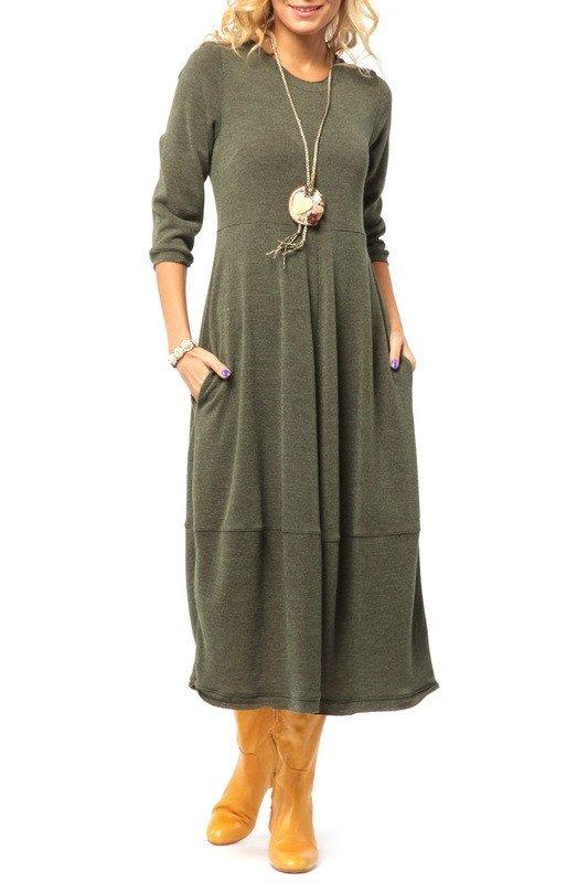 образ на каждый день платье зеленое