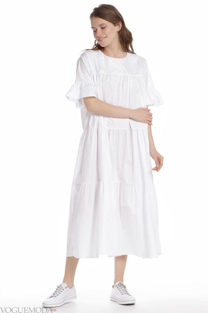 образ на каждый день белое платье