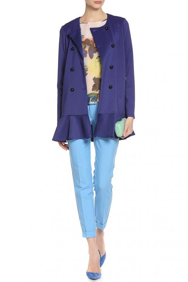 образ с ярко-синим пиджаком