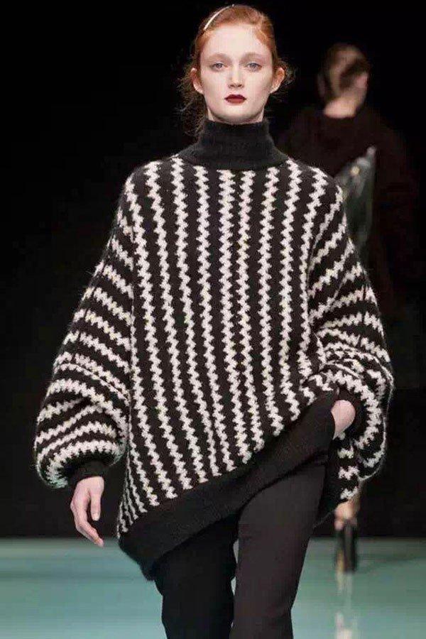 свитер оверсайз с принтом