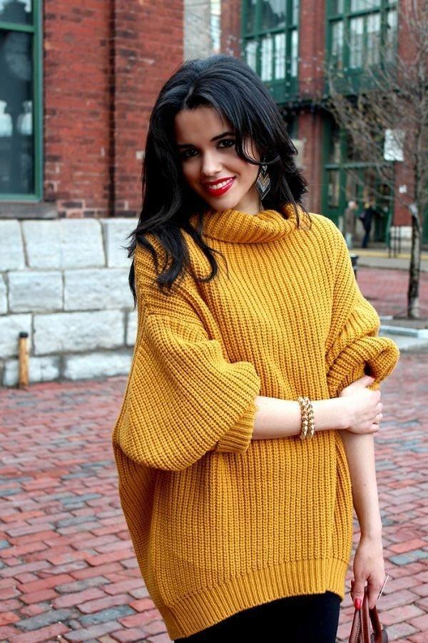 свитер оверсайз желтый