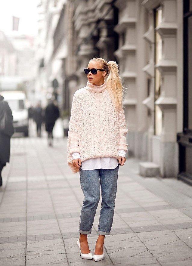 свитер оверсайз белый