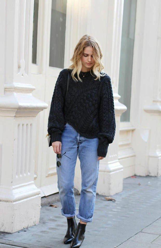 свитер оверсайз черный