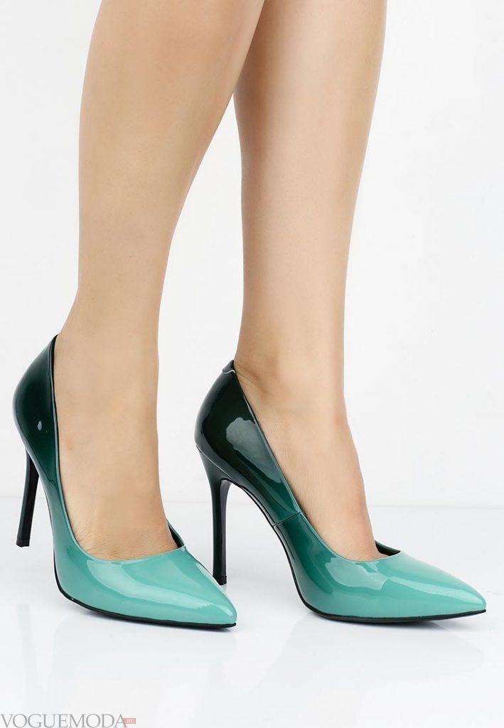 туфли лодочки двухцветные