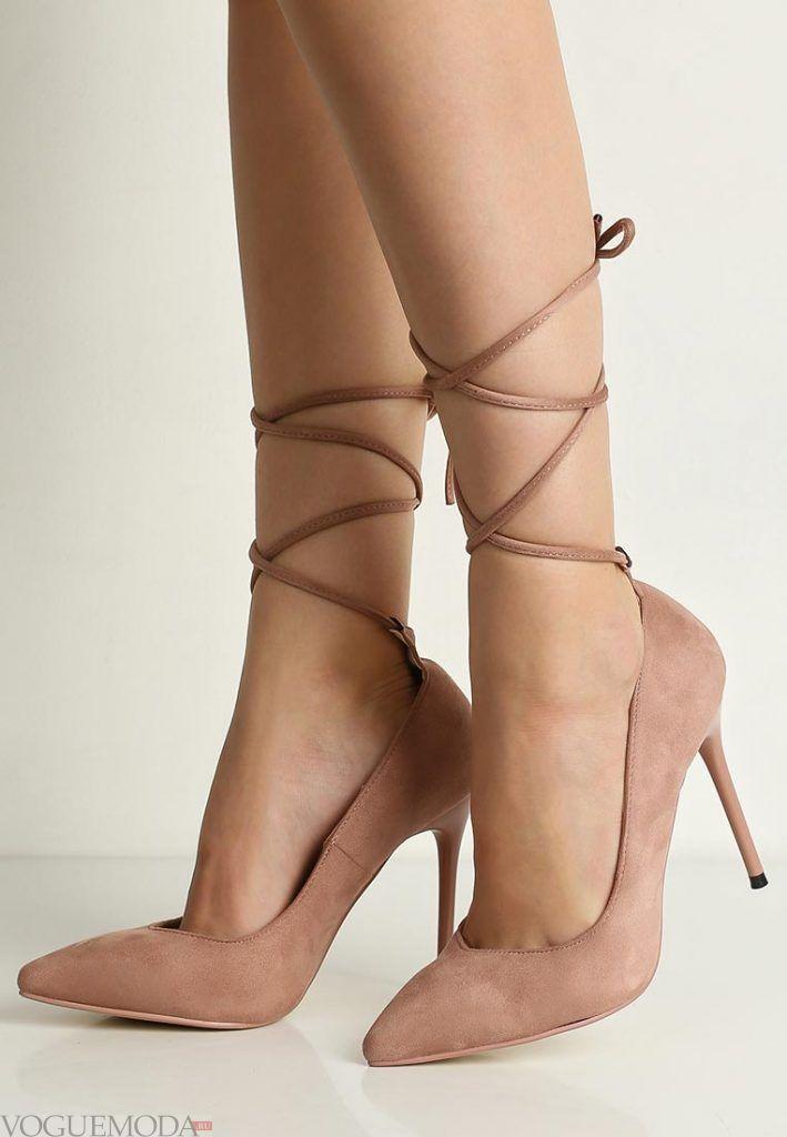 туфли с ремешками бежевые