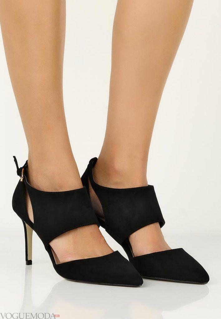 туфли с ремешками черные