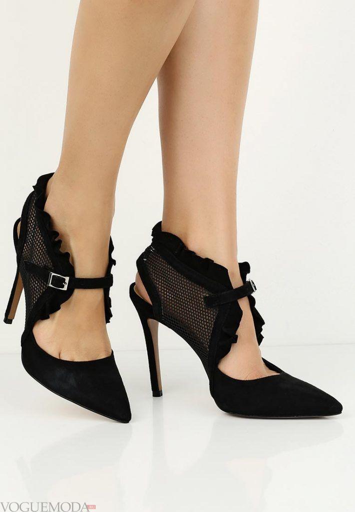 туфли с ремешками темные