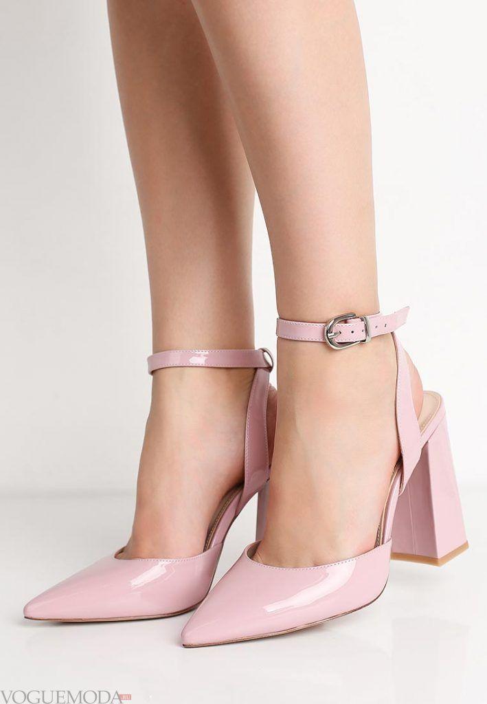 туфли с ремешками нюдовые