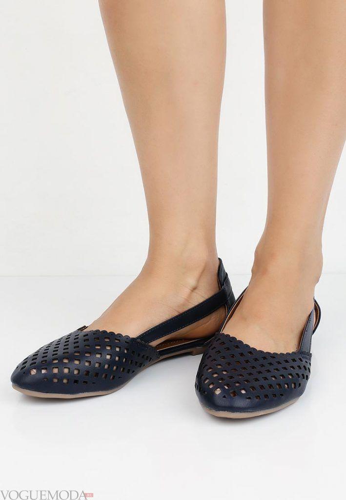 туфли балетки черные без каблука