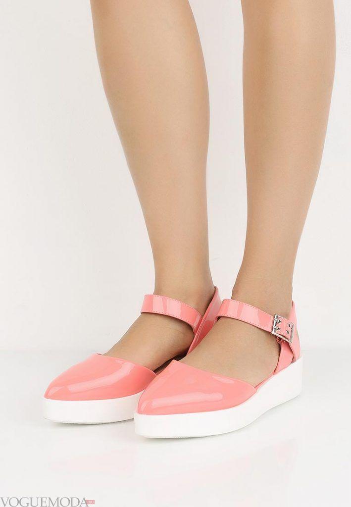 туфли на танкетке розовые