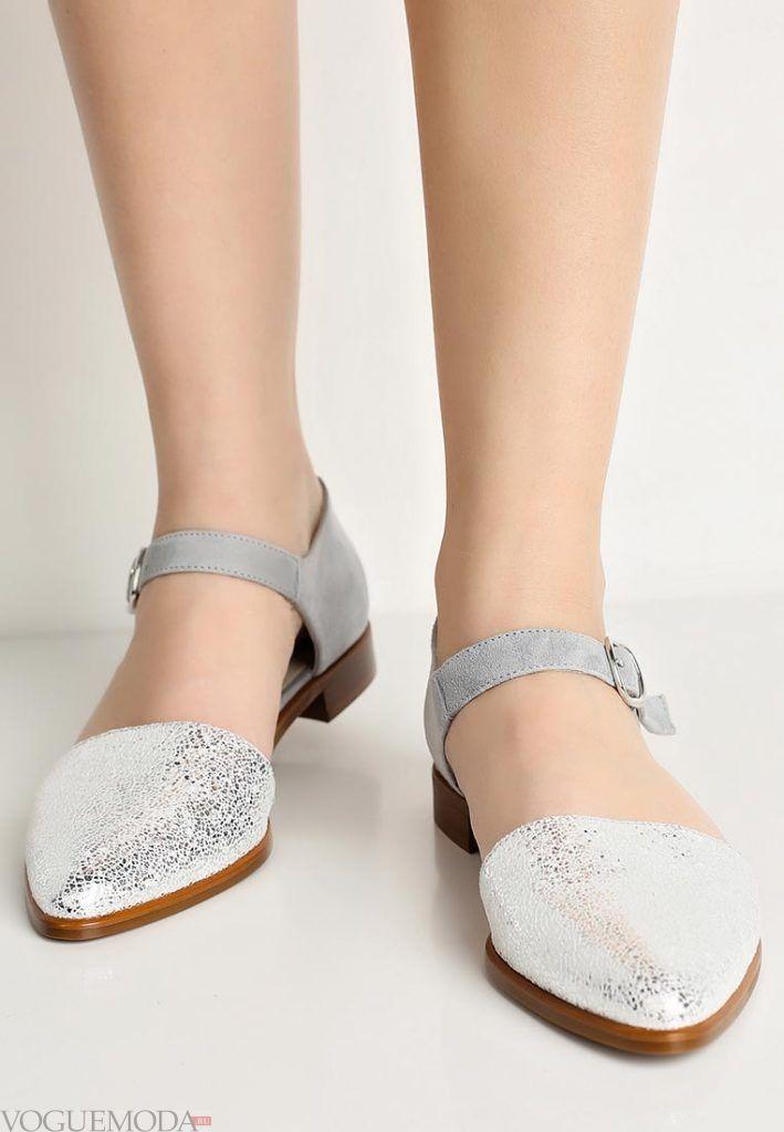 модные туфли серебро
