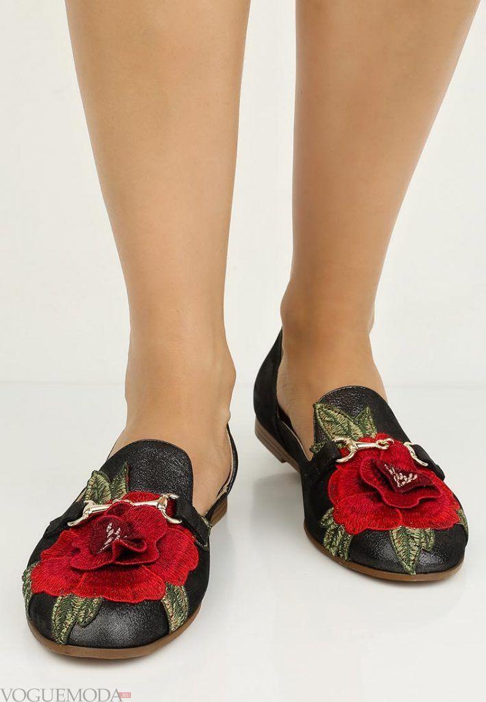 модные туфли с рисунком