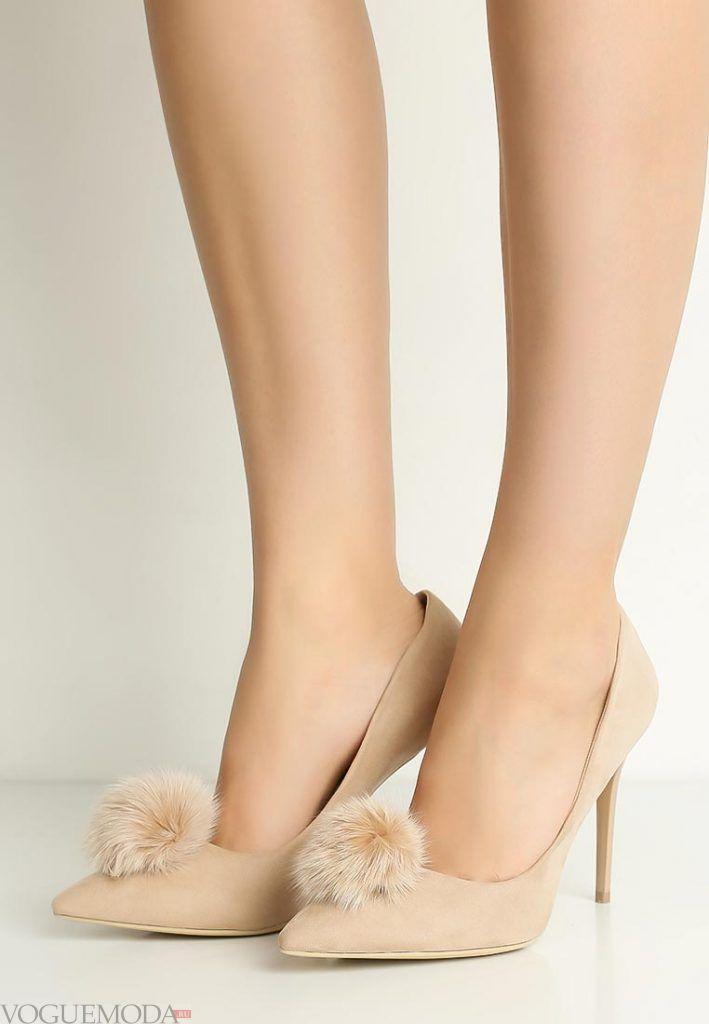 модные туфли бежевые на шпильке