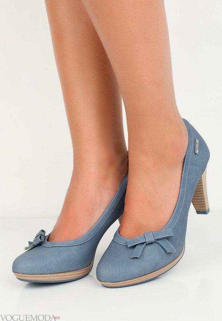 модные туфли с бантиком на каблуке