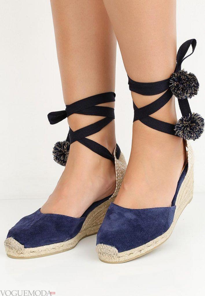 модные туфли синие