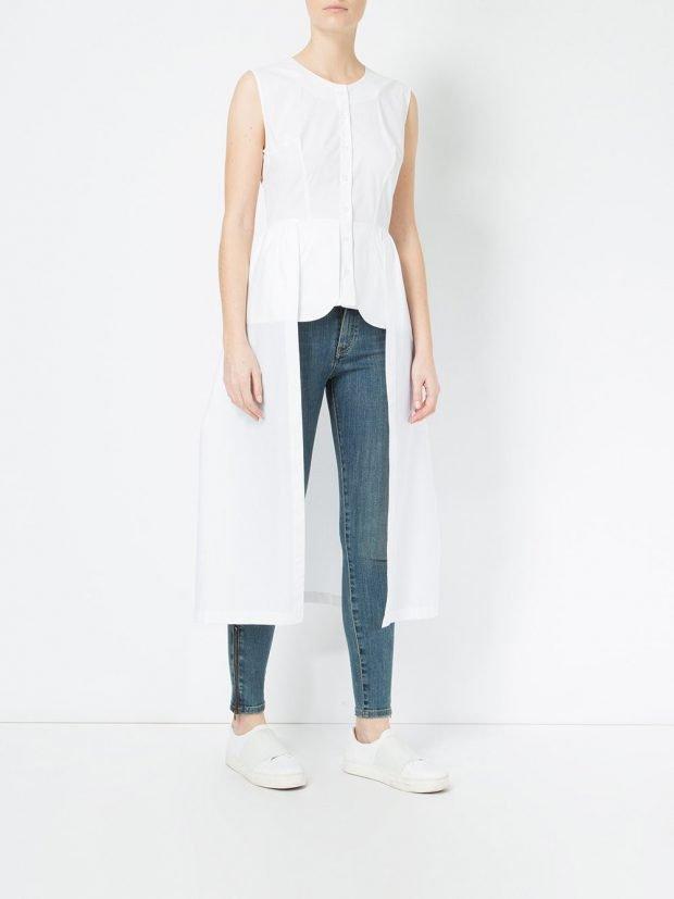 туника рубашка белая