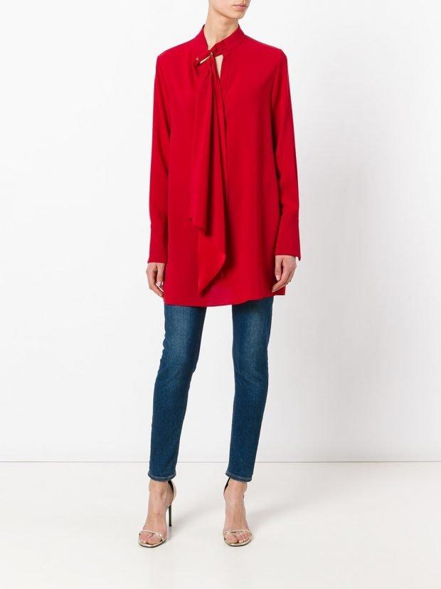 туника рубашка красная