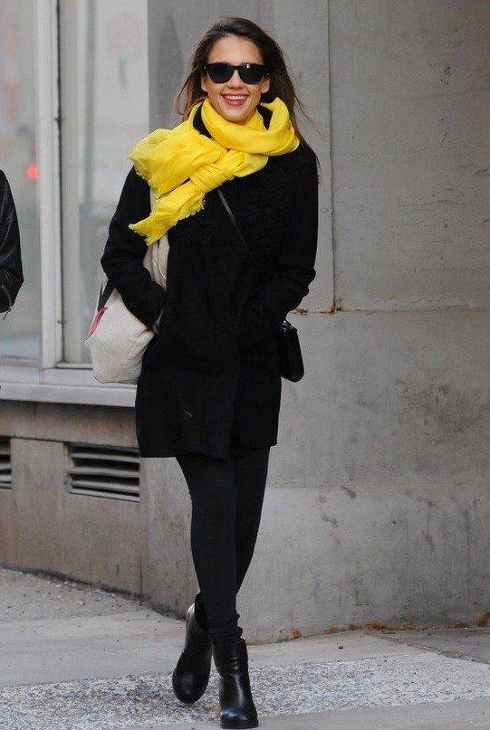 желтый палантин