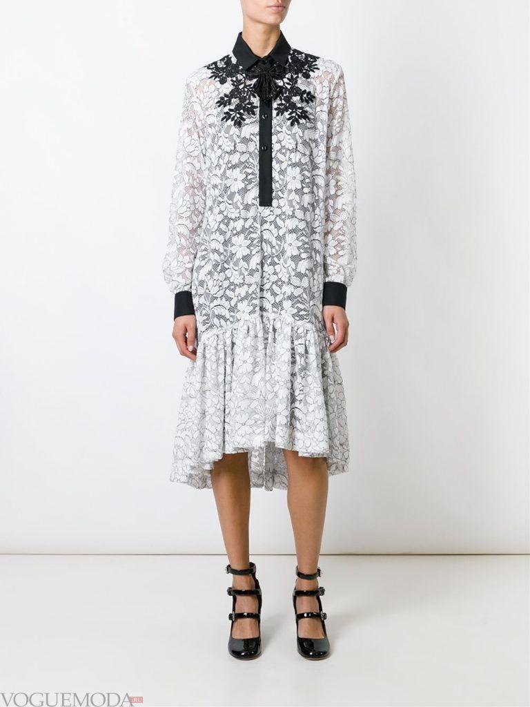 кружевное платье рубашка новинка