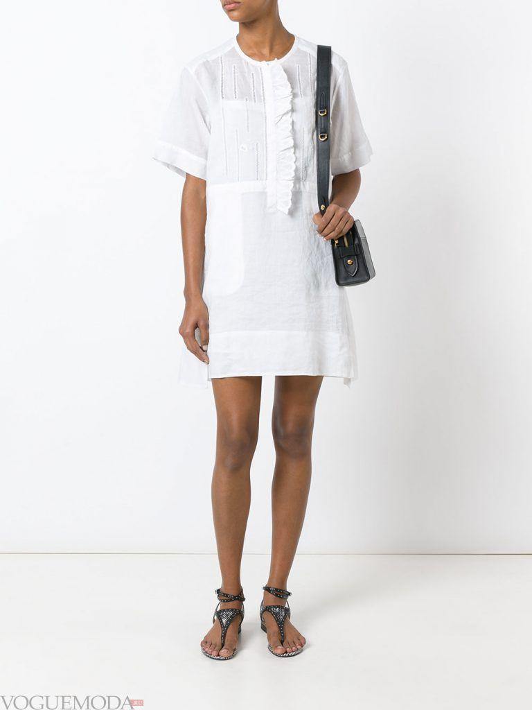 легкое каждодневное платье белое