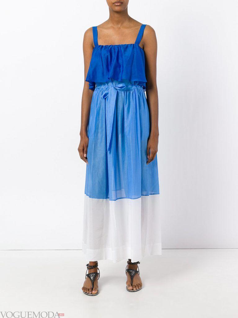 легкое каждодневное платье цветное