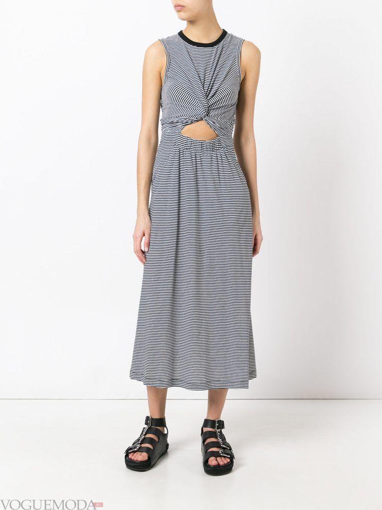 легкое каждодневное платье длинное