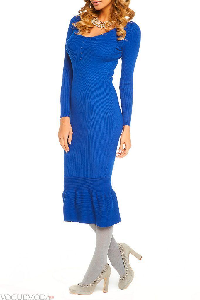 платье длинное осень зима новинка