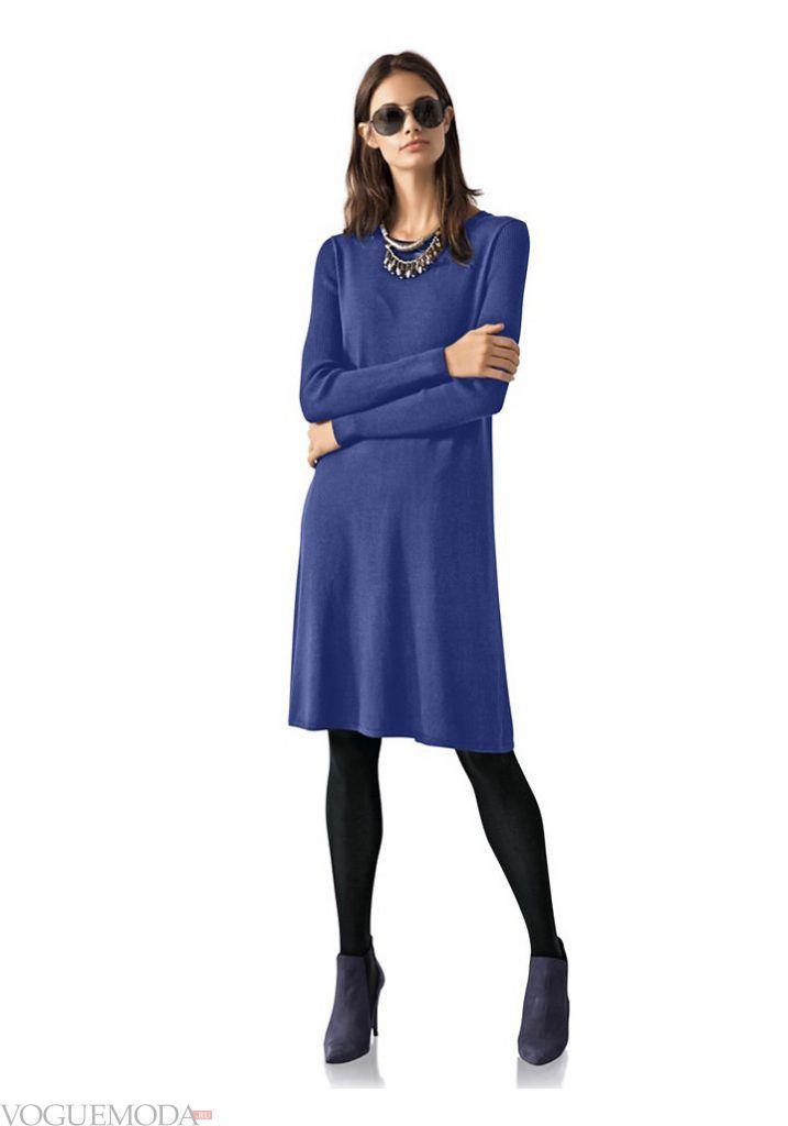 платье яркое осень зима новинка