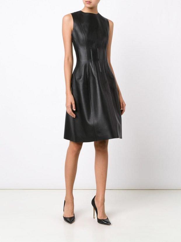 платье черное осень зима