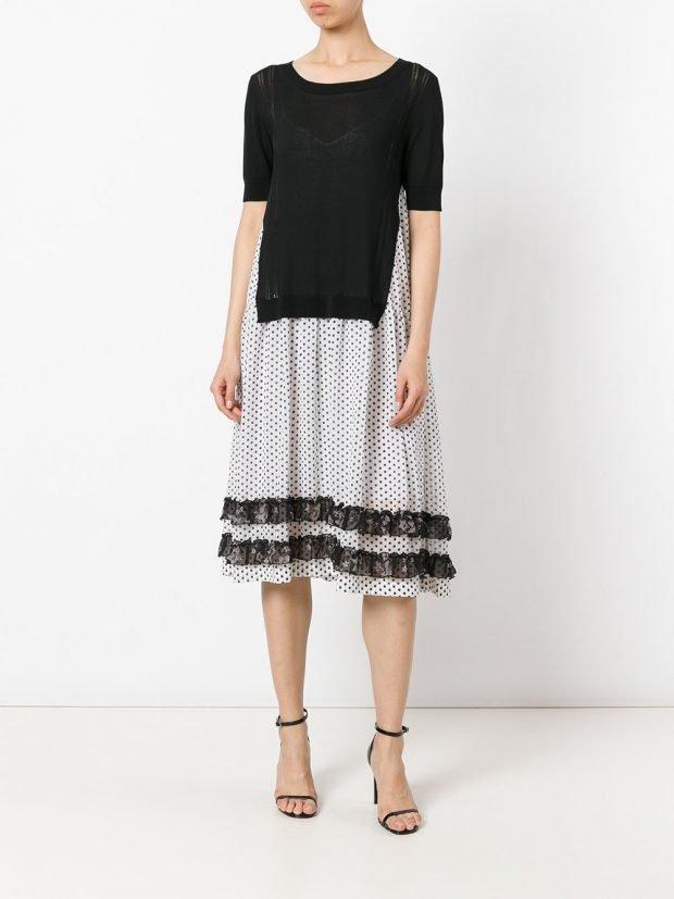 модные платья на каждый день: с полосами весна лето