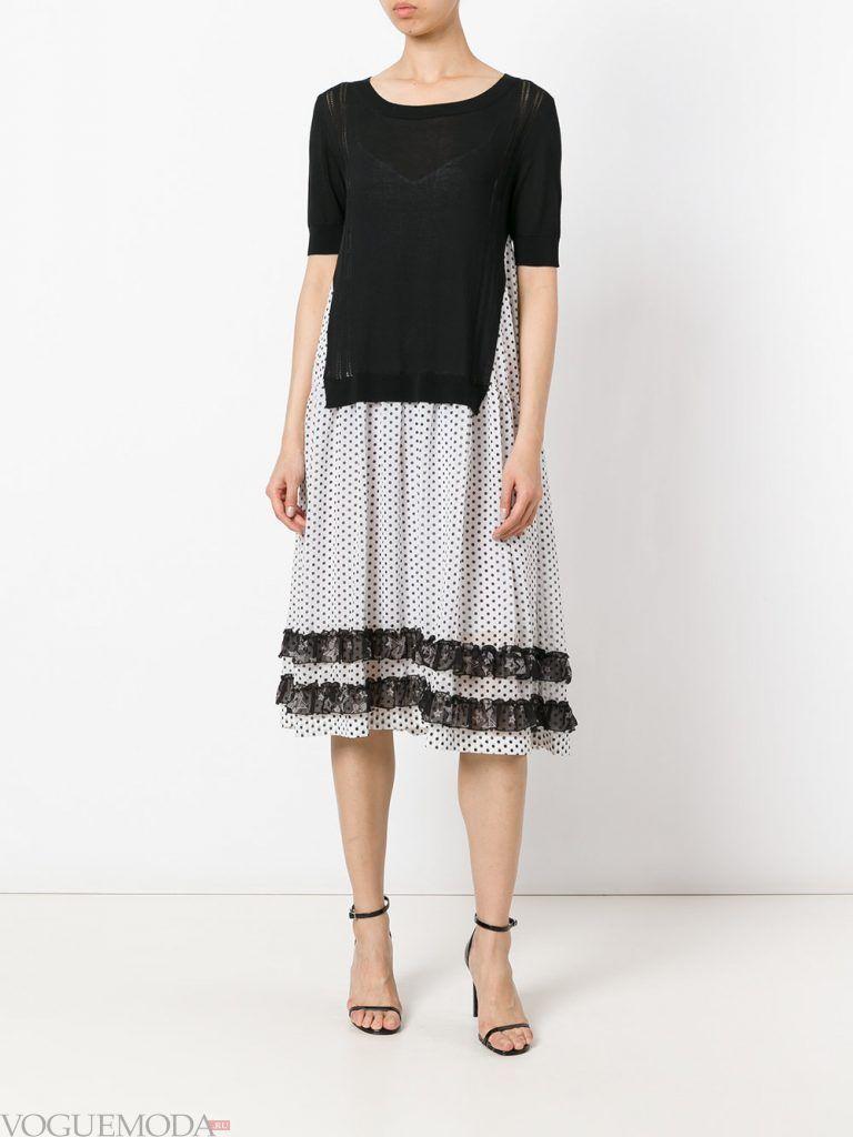 платье с полосами весна лето новинка
