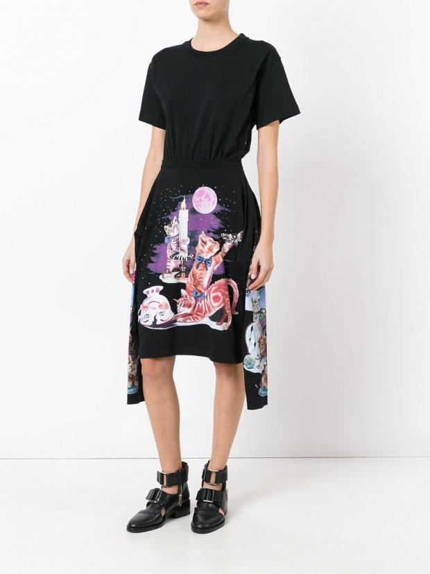 модные платья на каждый день: с рисунком весна лето