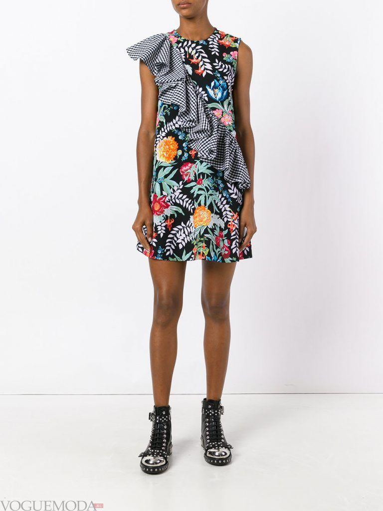 платье разноцветное весна лето новинка