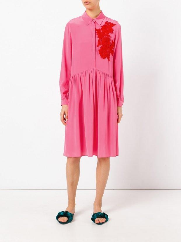 модные платья на каждый день: розовое весна лето