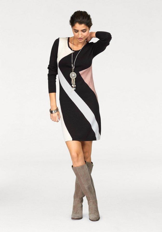 офисное платье с полосками