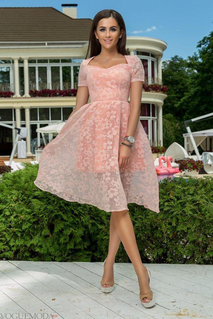 коктейльное выпускное платье розовое
