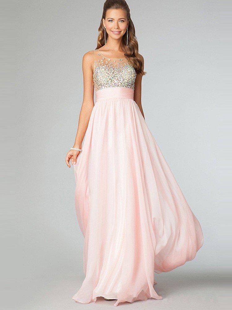длинное выпускное платье розовое