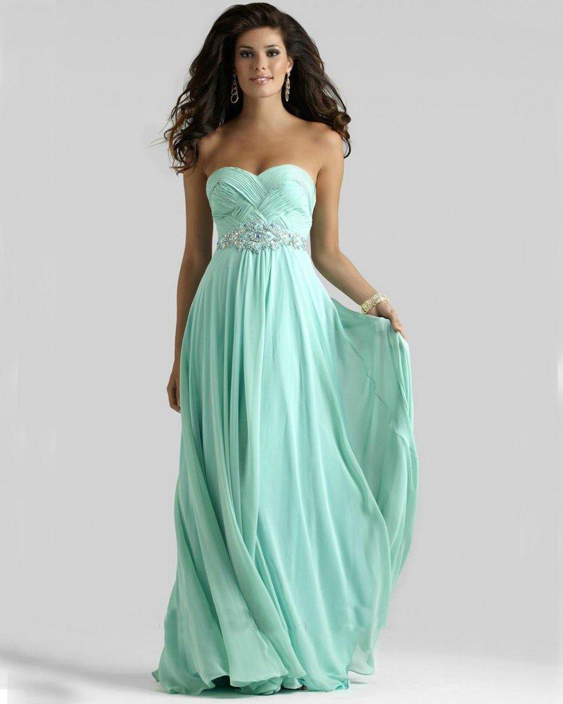 греческое выпускное платье мятное