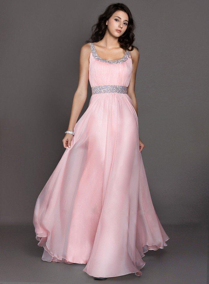греческое выпускное платье розовое