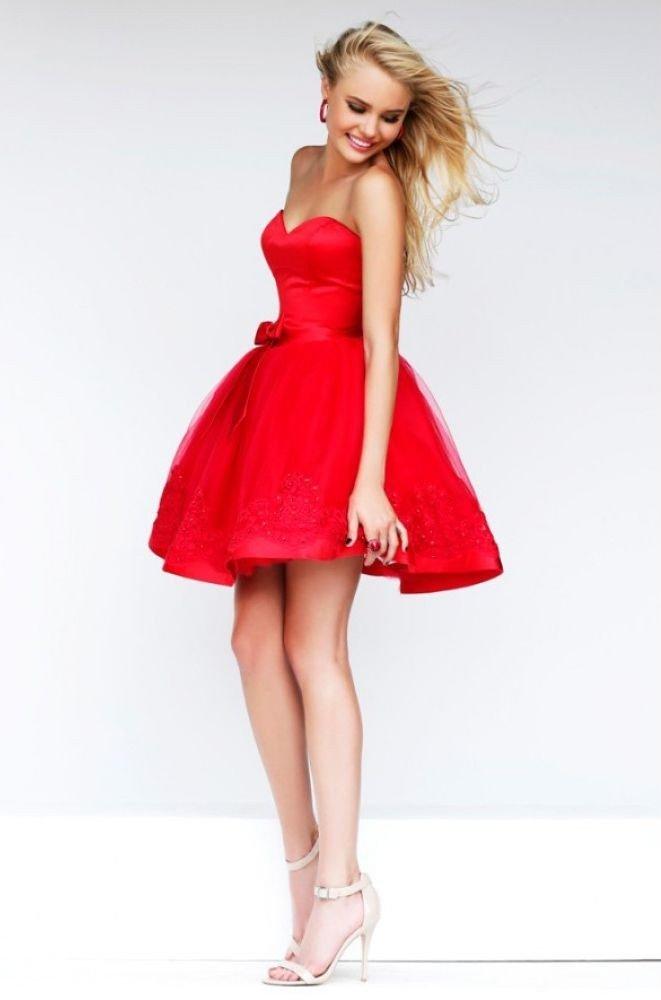 красивое платье на выпускной короткое