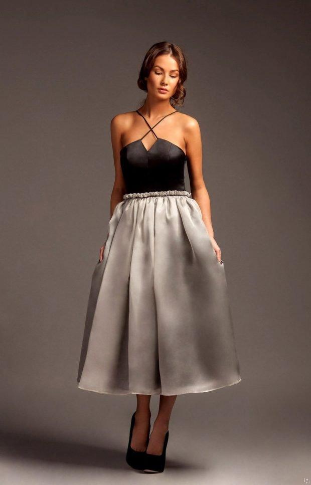 красивое платье на выпускной шелковое