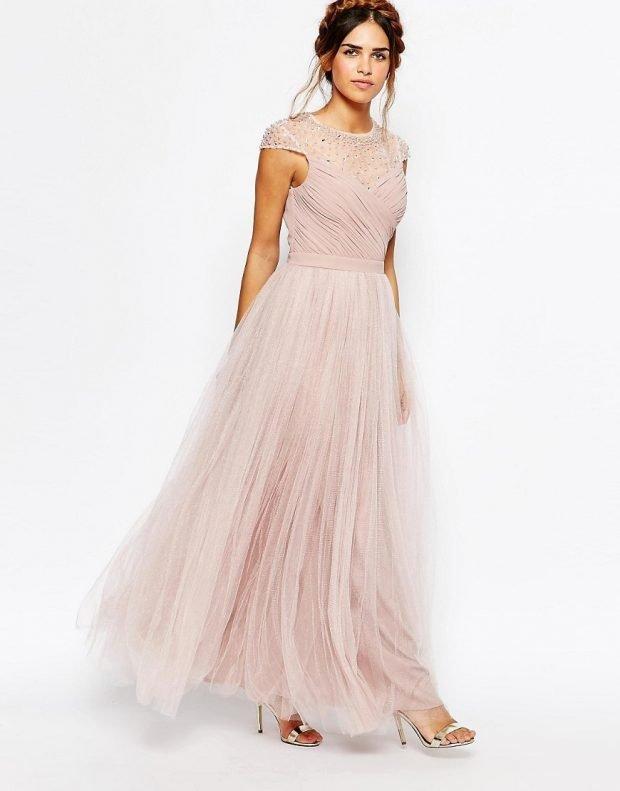 красивое платье на выпускной нюдовое
