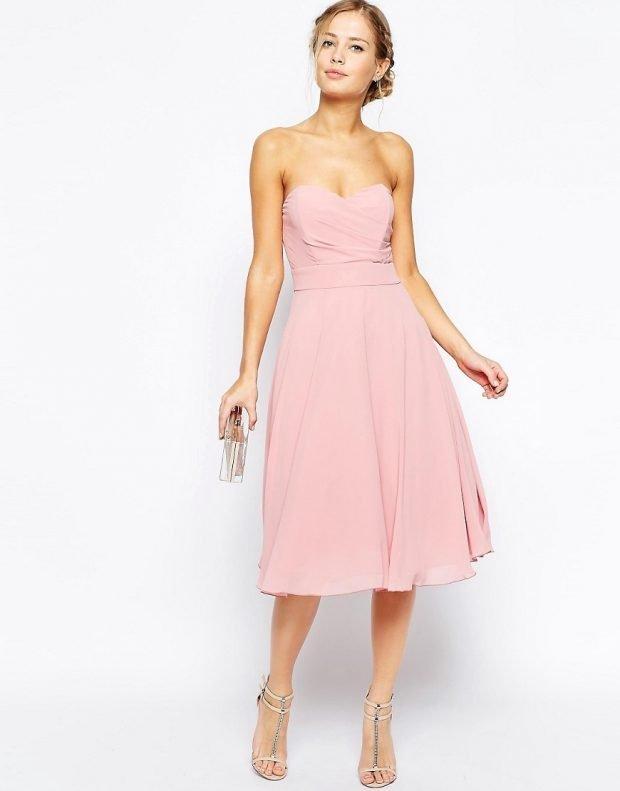 красивое платье на выпускной розовое