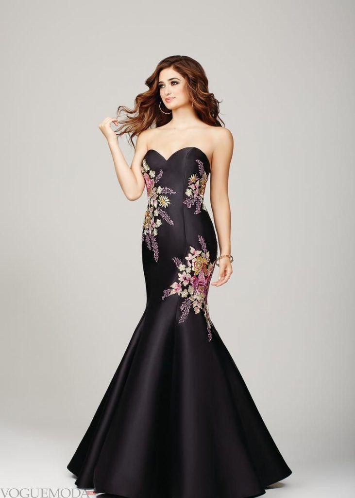 красивое платье на выпускной с декором