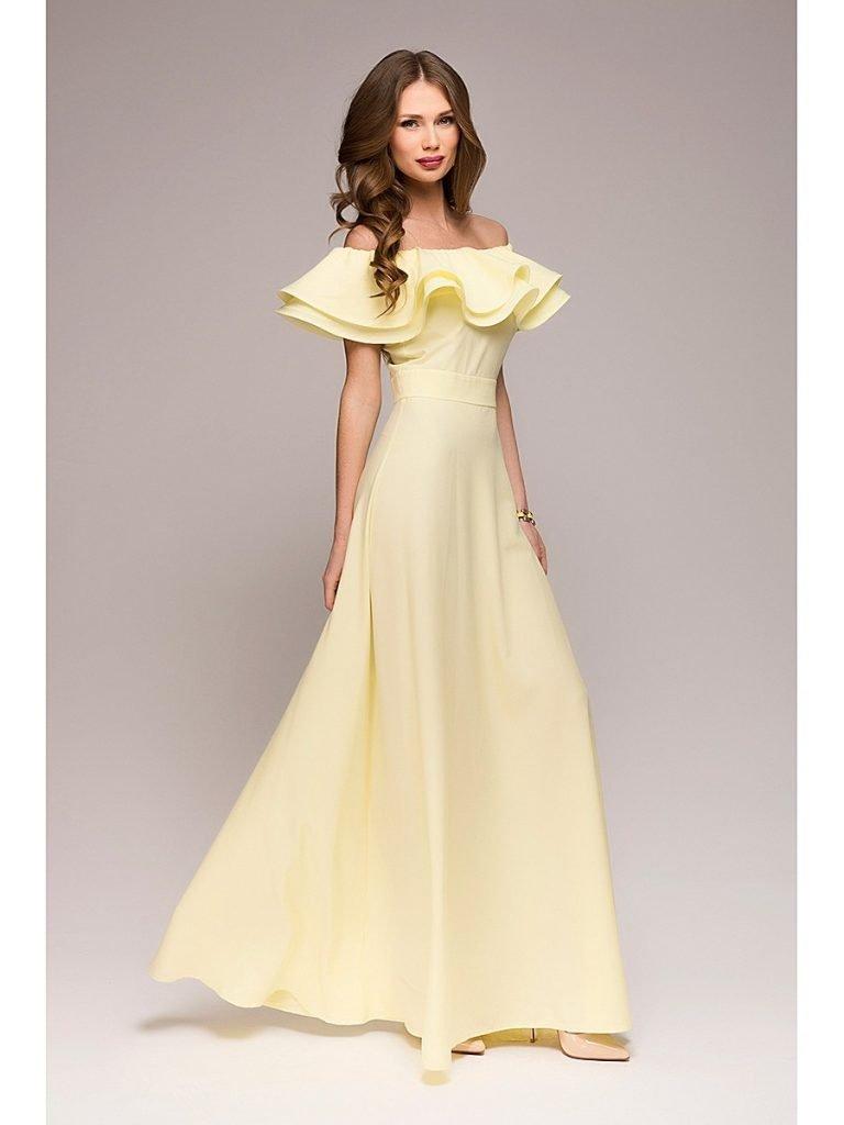 красивое платье на выпускной с рюшей